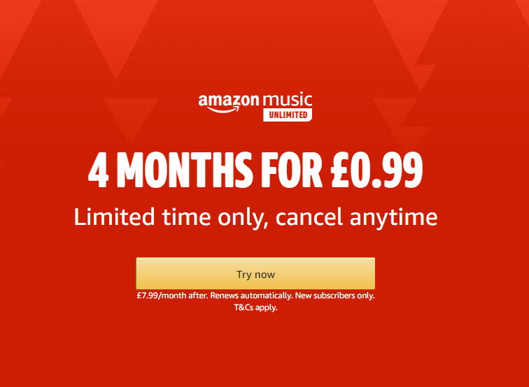 Apple music 0.99 for 3 months